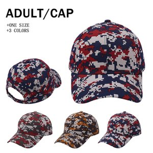 Camouflage Ponytail Baseball Caps Sport Outdoor Washed Ball Caps Fashion Camouflage High Messy Party Hats Supply 3styles RRA4141