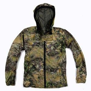 Водная трава Бионический камуфляж антимоскитная рыбалка охотничья куртка мужская дышащая камуфляжная костюм весна и осенняя одежда