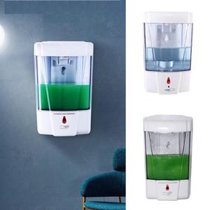 700ML Wall Mounted Automatic Soap Dispenser Hands Sanitizer Shampoo Dispenser Kitchen Bathroom IR Sensor Liquid Soap Dispensers LJJO8271