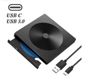 USB 3.0 Type C DVD Drive CD Burner Driver Drive-free High-speed Read-write Recorder, External DVD-RW Player Writer Reader