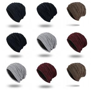 Fashion Hats Caps Mens Winter Beanies Solid Color Hat Man Plain Warm Bonnet Beanie Knitting Cap Touca Gorro Hats Vogue Knit Hats 127 R2