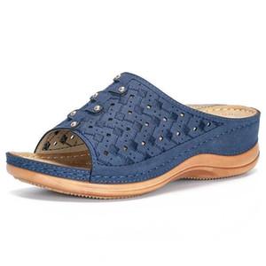 Women Sandals Wedges Shoes For Women High Heels Sandals Summer Shoes Flip Flop Chaussures Femme Platform Sandals Plus Size 210225