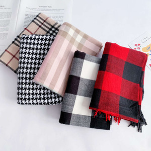 Baby autumn winter cashmere imitation British Plaid children's neck warm thickened boys and girls scarf Korean version