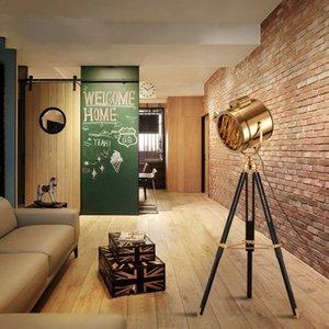 Altın Krom Zemin Işık Tripod Lambası Stüdyo Bar Oturma Odası Ayakta Lamba Loft Endüstriyel Ev Dekor Vintage Kat
