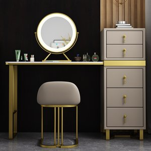 furniture 1075 Lights luxury dressing tables, storage cabinet, one bedroom, rock plate, make-up table network, red wind, small house type, make-ups tableing with light