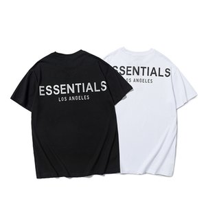 T shirt Fear of God Double Line Essentials Reflective Letter Loose Short Sleeve Couple Fog Men's and Women's Fashion