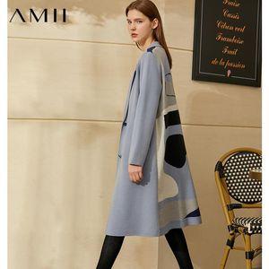 AMII Minimalismo Otoño Invierno Temperamento Tardeigans para mujer Moda Sapa suelta Single-Breasted Jacket femenino 12040513