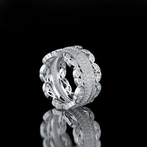 HBP luxury fashion temperament exquisite exaggeration lace full diamond goddess micro set zircon ring