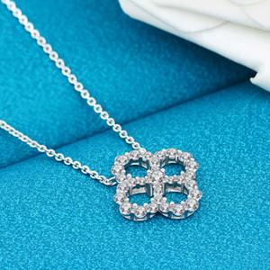 HBP Fashion Luxury 2021 S925 Silver Clover Collar, cadena de clavícula, Xiaoqing simple New Fairy