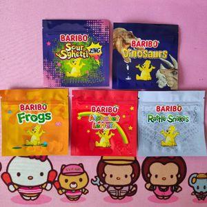 600mg 포장 가방 Baribo Medicated Resealable 식용 사탕 거미 마일 라 플라스틱 식당 Gummies 패키지