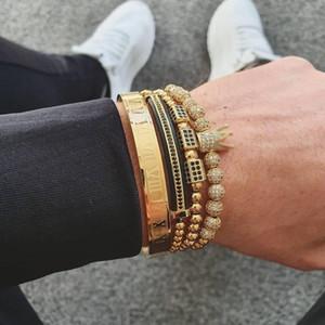 4pcs set+Roman numerals titanium steel designer bracelets couple bracelet women men luxury jewelry designer jewelry XD24539