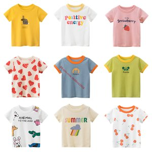 Wholesale 10 Pieces Baby & Kids Short Sleeve T-Shirts High Quality Summer Fruit Animal Boys Girls Clothing Children Clothes 2~8 Year Old