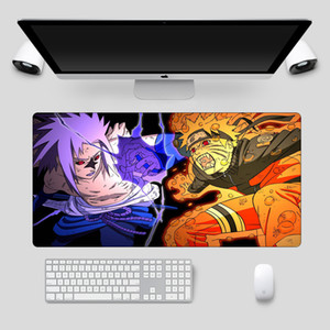 Dominierender Duell Naruto Anime Mauspad Große Sperrkante PC Gaming Mousepad Bester cooles Schreibtisch Computer Tastatur Maus Matte LJ201031