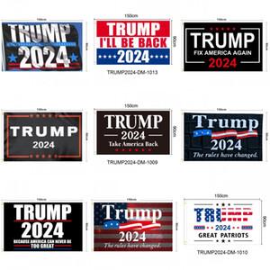 Trump 2024 Bayraklar Seçim Kadınlar için Trump 3x5 Feet 100D Polyester 150x90 cm Başkanlık Seçim Bayrakları için Banner DHL Nakliye
