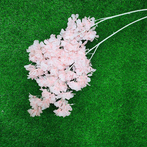 محاكاة البرقوق الكرز أزهار الحرير الاصطناعي الزهور شجرة ساكورا الفروع الجدول المنزل غرفة المعيشة الزفاف الديكور FWF4978