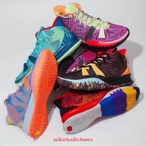 Kyries 7 ep أيقونة الرياضة Raygun بروكلين Soundwave Mene Womens Kids كرة السلة أحذية للبيع مع صندوق أحذية رياضية
