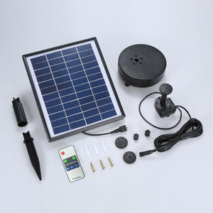 New 12V 5W Mini Solar Water Pump Power Panel Kit Fountain Pool Garden Pond Submersible Watering Remote Control LED Pump Fountain
