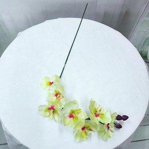 실크 꽃 인공 나방 난초 나비 난초 가정 결혼식 축제 장식 불멸의 phalaenopsis 인공 꽃 ahe5082