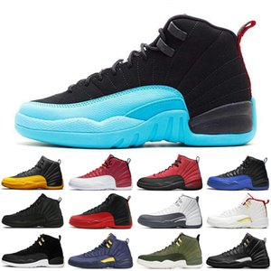 2021 Freeshipping Jumpman 12 12s Dark Grey men basketball shoes Game Royal University Gold White Gamma blue Black mens trainers sports sneakers size 7-13