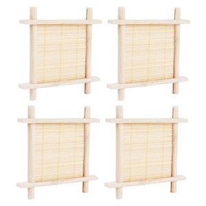 Soap Dishes 4Pcs Creative Bathroom Containers Boxes Water Draining Storage Racks (Beige)
