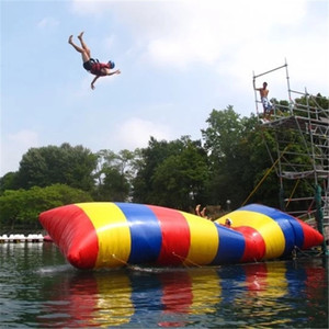 Neueste 8x3m Aufblasbare Wasser Blob Jump Kissen Wasser Blob Jumping Bag Aufblasbare Wasser Trampolin Katapult Zum Verkauf