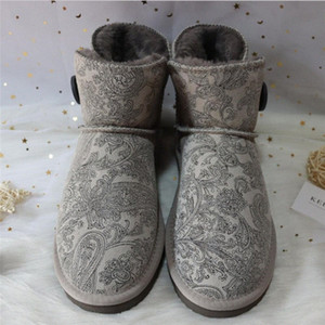 New Warm Boots Cowhide Genuine Leather Snow Boots 2019 Women Shoes Snow Wholesale Retail Classic Warm Shoes r6wY#