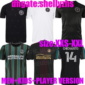 Hombres + Kids Inter Miami Black Socer Jersey 2021 Beckham Player Versión 21/22 La Galaxy Atlanta United Sweat Pellegrini MLS CF Camisetas de fútbol