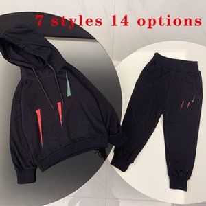 Kids Baby Boy Clothing Sets Hoodie Two-piece Suit Autumn Girl Suits Child Sweatshirt + Sweatpants Hooded 7 Styles 14 Options Size 90-150