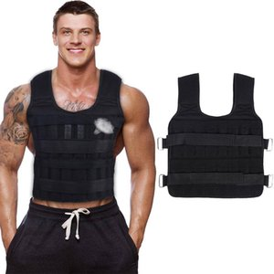 30KG Loading Weight Vest Boxing Train Fitness Equipment Gym Adjustable Waistcoat Exercise Sanda Sparring Protect Sand Clothing