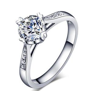 HBP Fashion Sipai Ювелирные Изделия Имитация Zircon Plated 18K Platinum Group Установите Алмазное Женское предложение Обручальное кольцо