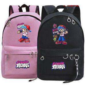 배낭 금요일 밤 펑킨 배낭 여자를위한 학생 학교 가방 어린이 여성 패션 배출 십대 bagpack mochila