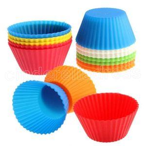 7 cm chinches de gel de sílice molde de hornear molde de silicona muffin taza hornear tazas taza de pasteles cupcake multi