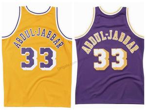 Ucuz Özel Retro # 33 Kareem Abdul-Jabbar Koleji Basketbol Forması erkek Dikişli Herhangi Boyutu 2XS-3XL 4XL 5XL Adı veya Number Ücretsiz Kargo