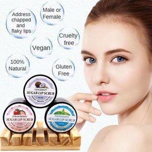 Strawberry Lip Scrub Lips Mask Exfoliating Balm Moisturizer Nourish Plumper Enhancer Vitamin Wrinkle Natural Skin Care