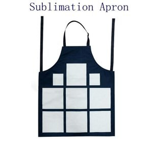 Sublimation 9 Plaid Aprons Sublimation Blanks Kitchen Apron Printing Oil Proof Antifouling Cotton Linen Aprons GWd5012