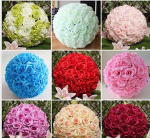 2021 Rose balls Wedding silk Pomander Kissing Ball decorate flower artificial flower for wedding garden market decoration fast ship