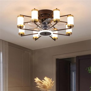 Ceiling fan light Bedroom living room dining room home Nordic integrated ceiling minimalist light with remote control