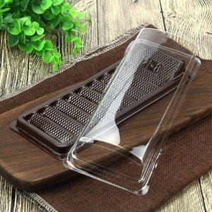 Одноразовые контейнер для упаковки пищевых упаковок с четкой крышкой выпечки торт десерт Выньте коробку