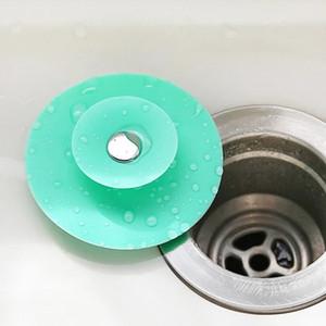 سيليكون بالوعة الشعر مصفاة الطابق استنزاف الحمام المطبخ لطيف مزيل العرق سدادة بالوعة مصفاة حوض سدادة المياه WLL56