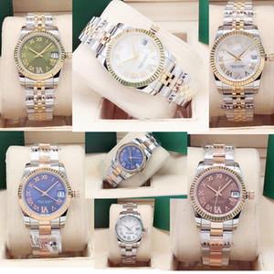 Mulheres Relógios 31mm Senhoras Assista Diamante Sintético de 6 dígitos Rosto Romano Relógios de Aço Inoxidável Data à Prova D 'Água Relógio De Relógios de Relógios de Relógios de Moda