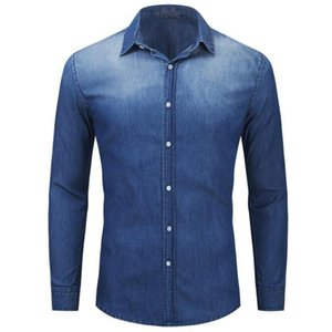Spring summer men shirts high quality 100% cotton casual shirts for men long sleeved Plus Size denim chemise homme