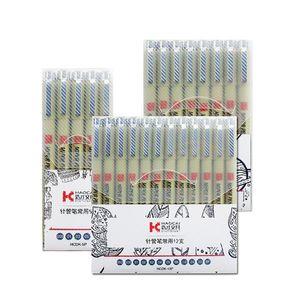 Pigment Liner Micron Pen Neelde Weiche Bürste Zeichnung Stift Lot 005 01 02 03 04 05 08 1.0 Pinsel Art Marker F qylxpp