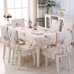Новый противоскользящий столовой стул подушка мягкий пастырский стол ткань стул крышка вязаный комплект подушка спинка отель свадебный декор