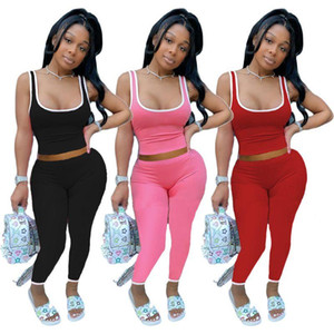 Casual 2 Piece Set Women Tracksuit Summer Clothes Crop Top and Pant Sweat Suits Lounge Wear Outfits Two Pcs Matching Sets