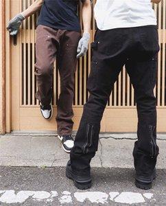 2021 VUJADE CARGO PANTS Women Men Jogger Best Quality Slim Overalls Brown Black Zipper Pants Track Pants Joggers Rhude H0910