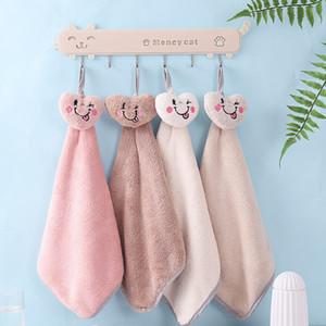 Towel hanging type little star love bear paw cute kitchen bathroom multi use water absorbent towel