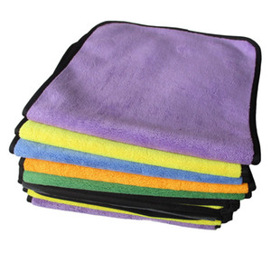 30*40cm Car Wash Towels Plush Microfiber Washing Drying Towel Strong Thick Plush Polyester Fiber Car Cleaning Cloth DHL Free