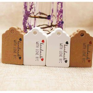 Vintage style paper gift tag white kraft cardboard jewelry label tag for gift  wedding favors products note tag 100pcs