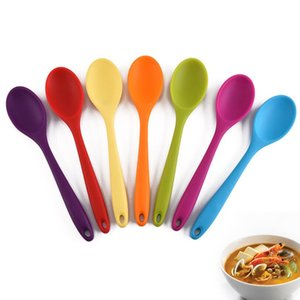 Silicone Spoon High Temperature Spoon All-In-One All-Inclusive Handle Silicone Soup Spoon Protection Non-Stick Pot Soup Spoons GWE4890