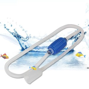 Fish Tank Air Pump Rubber Transparent Simple Aquarium Water Changer Sand Washing Device Tank Pipe Accesssories DHF7822